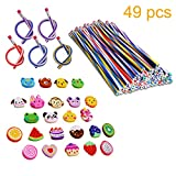 InnoBase Party Bags Filler, Biegsam Flexible Magische Bleistifte Emoji Smiley Tier Radiergummis Rubber Radierer Mitgebsel Spielzeug Geschenke Kinder Schule Spaß Ausrüstung Party...