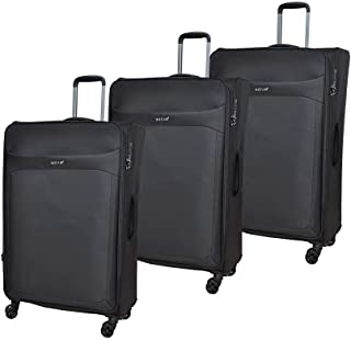 Magellan Luggage Trolley Bags, Set of 3 Pieces, Black