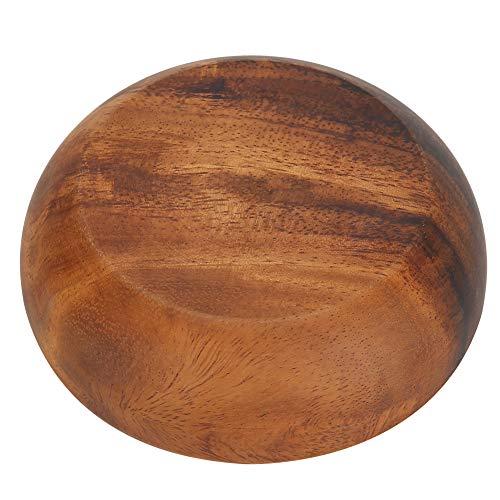 Bocadillo de Madera - Bocadillo de Madera Tazón de Sopa de Ensalada de Frutas - Adecuado para el Hogar, Cafetería, Casa de Té(17.5 * 4 cm)