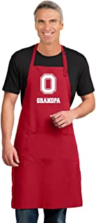 Large Ohio State Grandpa Mens Apron or OSU Grandfather Aprons