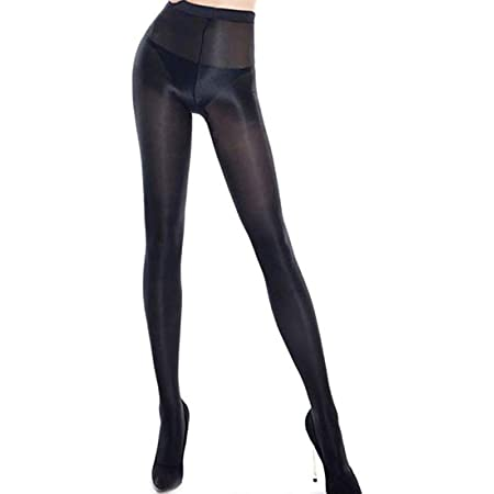 Women's Oil Shiny Slik Dance Tights 70D High Stretch Shimmery Shaping Dance Pantyhose High Tight For Women
