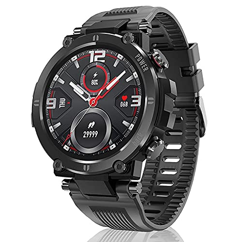 ZGZYL Smart Watch Men's Mujeres Smartwatch Pantalla Táctil Deportes Impermeable IP68 Pulsera Inteligente Fitness Activity Tracker Tarifa Cardíaca Pedómetro iOS Android Reloj Inteligente,Negro