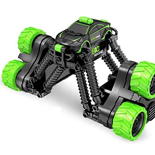 WGFGXQ 2.4G Transform RC Stunt Car - 2,4 GHz 360-Grad-Spinning-Hochgeschwindigkeits-Teleskopfernbedienung Stunt Car Monster Truck Geländewagen Hobby-Spielzeug für Kinder und Erw