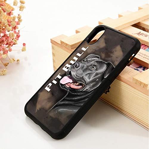 KKAAVV para 5 5S SE 6 6S Funda de teléfono para iPhone 7 8 Plus X XS 11 Pro MAX XR Pit American Dog, para iPhone X