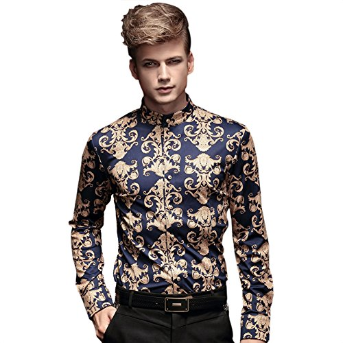 FANZHUAN Shirts Slim Fit for Men Casual Fashion Collared Long Sleeve Fit Dress Shirts Non Iron