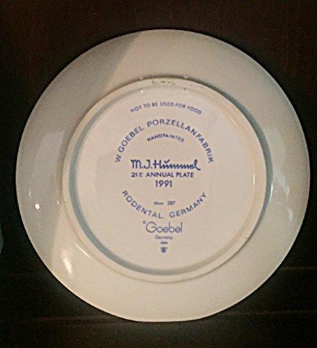 M. I. Hummel Ruhe einjährig Teller (1991) 19,1cm * * Hum 287