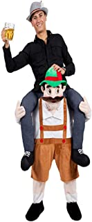 Halloween Carry Mascot Me Ride On Beer Guy Oktoberfest Costume Ride on Costume Brown