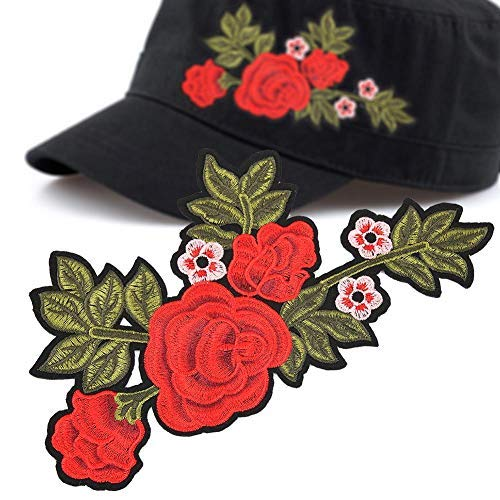 Rose patches voor kleding, school, hoed, doe-het-zelf, rozenstickers, ijzer op patches geborduurd patroon, applicatieaccessoire voor decoratie kleding