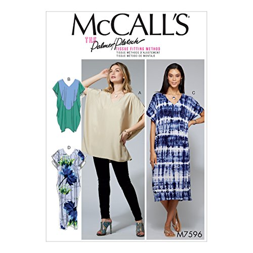 McCall Patterns Misses Loose-Fitting V-Neck Pullover Tunic and Dresses