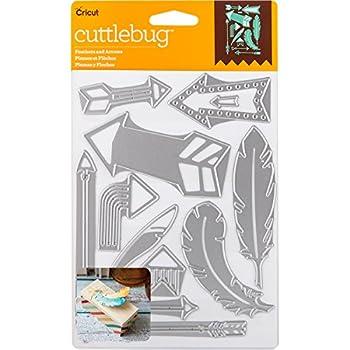 Cricut Cuttlebug Dies Feathers & Arrows