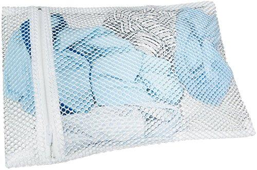 Fackelmann Wäsche-Schutznetz TECNO, Wäschesack mit Reißverschluss, Wäschenetz für Waschmaschine (Farbe: Weiß), Menge: 1 Stück