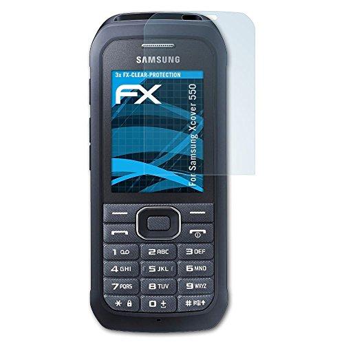 atFolix Schutzfolie kompatibel mit Samsung Xcover 550 Folie, ultraklare FX Bildschirmschutzfolie (3X)