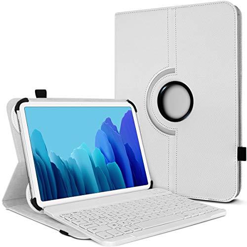 Karylax - Funda de protección y modo soporte horizontal con teclado francés Azerty Bluetooth para tablet Lenovo Yoga Tab 3 Pro de 10 pulgadas, color blanco