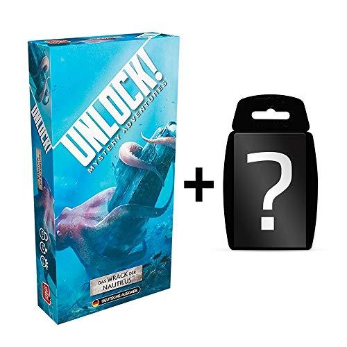 Unlock! - Das Wrack der Nautilus - Brettspiel | Einzelszenario | Deutsch | Ratespiel | Set inkl. Kartenspiel
