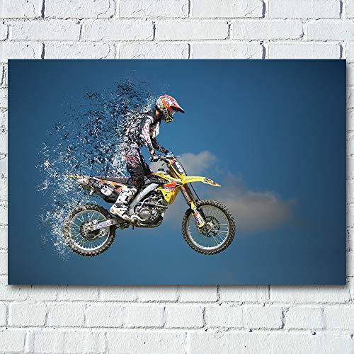 UHvEZ 1000pcs_Adult Puzzle_Motocross_Juguetes educativos Colores Brillantes Regalos de cumpleaños decoración del hogar_50x75cm