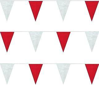FlagandBanner Red/White Heavy Duty String Pennants (100 ft.)