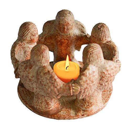 Freundeskreis Kreis der Freundschaft 5 Engel, Handmade, Teelichthalter Kerzen-Halter