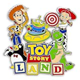 Disney Parks Toy Story Land Logo Pin - Woody Jessie Wheezy Alien Rex