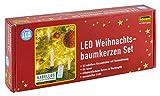 Set mit 10 dekorativen LED Kerzen in elfenbeinfarbener Wachsoptik, inklusive Klemmen und praktischer Fernbedienung, benötigt 10 AAA Batterien (nicht enthalten), Größe je Kerze Durchmesser ca. 1,5 cm, Höhe ca. 9 cm Passend für jeden Geschmack und jede...