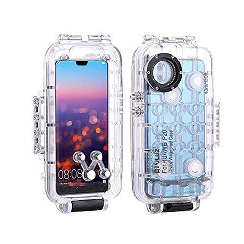 Carcasa sumergible para smartphone de Fesjoy de 40 m / 130 metros, resistente a los golpes, protección completa de 360°, compatible con Huawei P20 / Huawei P20 Pro / Huawei Mate 20 Pro