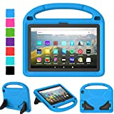TIRIN All-New Fire HD 8 Case 2020, Amazon Kindle Fire HD 8 Tablet Case 10th Generation Lightweight Shockproof Handle with Stand Kid-Proof Case for Fire HD 8 Tablet & Fire HD 8 Plus 2020 Release - Blue