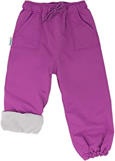 JAN & JUL Kids Water-Proof Fleece-Lined/Single Layer Rain Pants