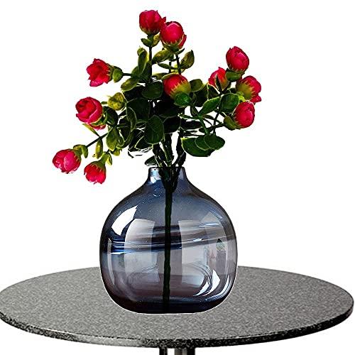 LXLAMP Jarrón Cristal, floreros Jarron Grande de Suelo jarrones Decorativos Modernos Altos Jarrones de Flores, Elegante Decoración para la Decoración del Escritorio (Color : Grey)