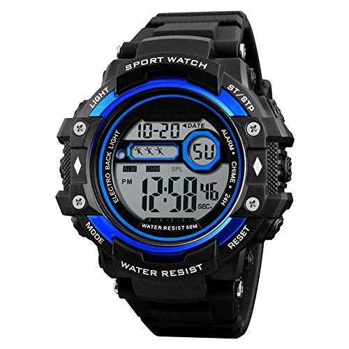 Multifunctioneel bergbeklimmen horloge in digitale buitensporthorloge, het digitale sporthorloge van mannen militair casual, elektronische horloges, het waterdichte horloge met alarmkalender S
