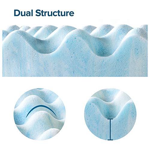 ZINUS 2 Inch Swirl Gel Cooling Memory Foam Mattress Topper / Cooling, Airflow Design / CertiPUR-US Certified, King
