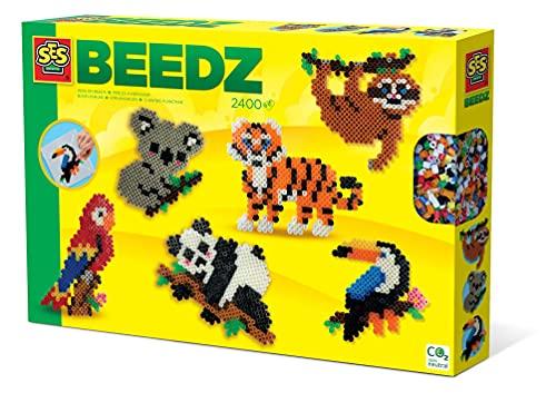 SES Creative Cuentas planchar - Animales de la selva