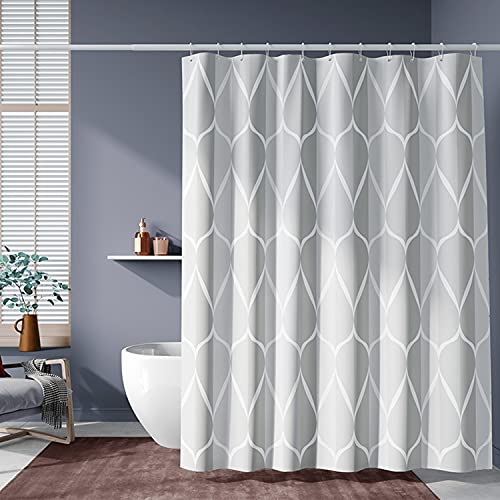 TenkBuff Fabric Shower Curtain, Hea…