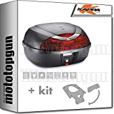 kappa maleta k42n 42 lt + portaequipaje monolock compatible con honda pcx 125 2020 20