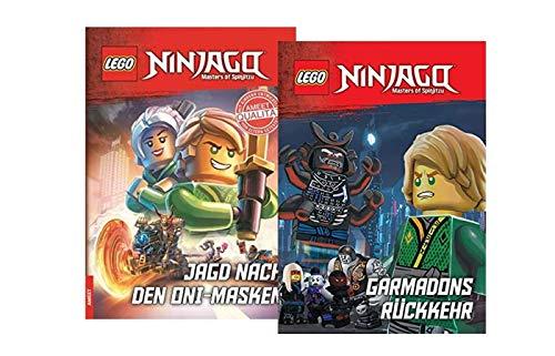 LEGO Ninjago - Retorno de Garmadons + caza de las máscaras Oni, libro de tapa dura, para primer lectura y fans de Ninjago