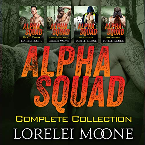 Alpha Squad: The Complete Collection     A Collection of Steamy Bear/Wolf Shifter Paranormal Romance              By:                                                                                                                                 Lorelei Moone                               Narrated by:                                                                                                                                 Audrey Lusk                      Length: 14 hrs and 53 mins     Not rated yet     Overall 0.0