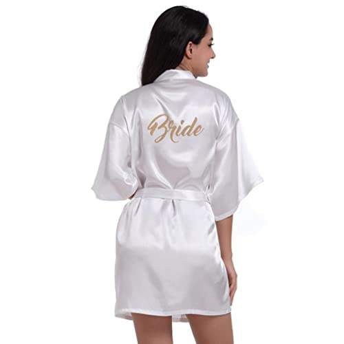5c8a63f66d HARRYSTORE Women Girl s Kimono Robes Satin Nightdress Pure Colour Short  Style with Oblique V-Neck