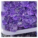 Piedra de decoración de pecera Cristal natural Piedra mezclada Amatista Chips cayorados Piedra triturada Curación de la joyería de cristal que hace la decoración del hogar o el tanque de pescado