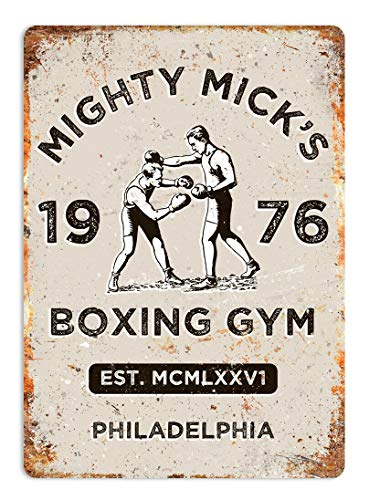 NOT Mick's Boxing Gym Placa de Cartel de Chapa Vintage Retro Cartel de Advertencia de Pared de Hierro Decoración para Bar Cafe Shop Home Garage Office Hotel