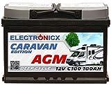 Electronicx Caravan Edition V2 Batterie AGM 100 AH 12V Wohnmobil Boot Versorgung