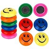 zdffgcgvg Imán de Nevera Imán de Nevera 12 Piezas/imán de Nevera multismiley Color Redondo Pegatina de Tablero de Mensajes de plástico para decoración del hogar