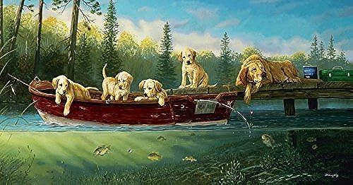hasta un 65% de descuento Fishing Lessons a 500-Piece Jigsaw Puzzle Puzzle Puzzle by Sunsout Inc. by SunsOut  Descuento del 70% barato