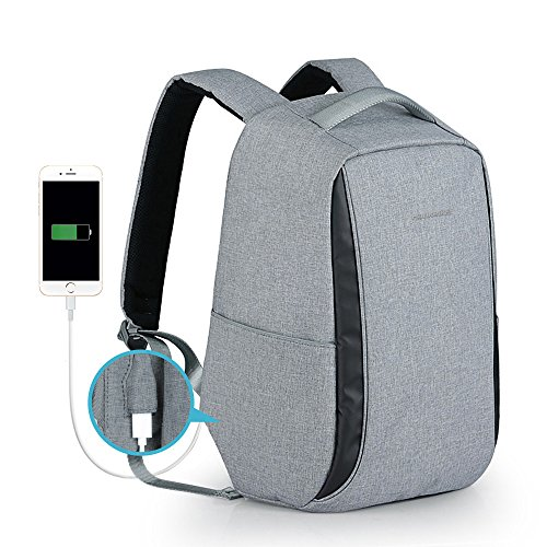 Anti Theft Business Laptop Backpack Water Resistant Relaxed Travel Rucksack College School Students Book Bag with USB Charging Port