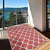 Jadorel - Alfombra exterior 152 x 213 cm, rectangular SCAND reversible gris terraza y jardín apta para calefacción por suelo radiante