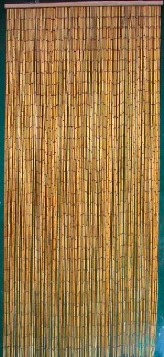 ABeadedCurtain 125 String Natural Bamboo Beaded Curtain 38% More Strands Handmade with 4000 Beads (+Hanging Hardware)
