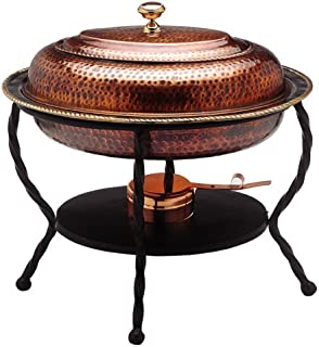 hammered copper chafing dish