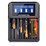 18650 Smart Battery Charger, Universal Charger with 4 Slot LCD Display for 20700