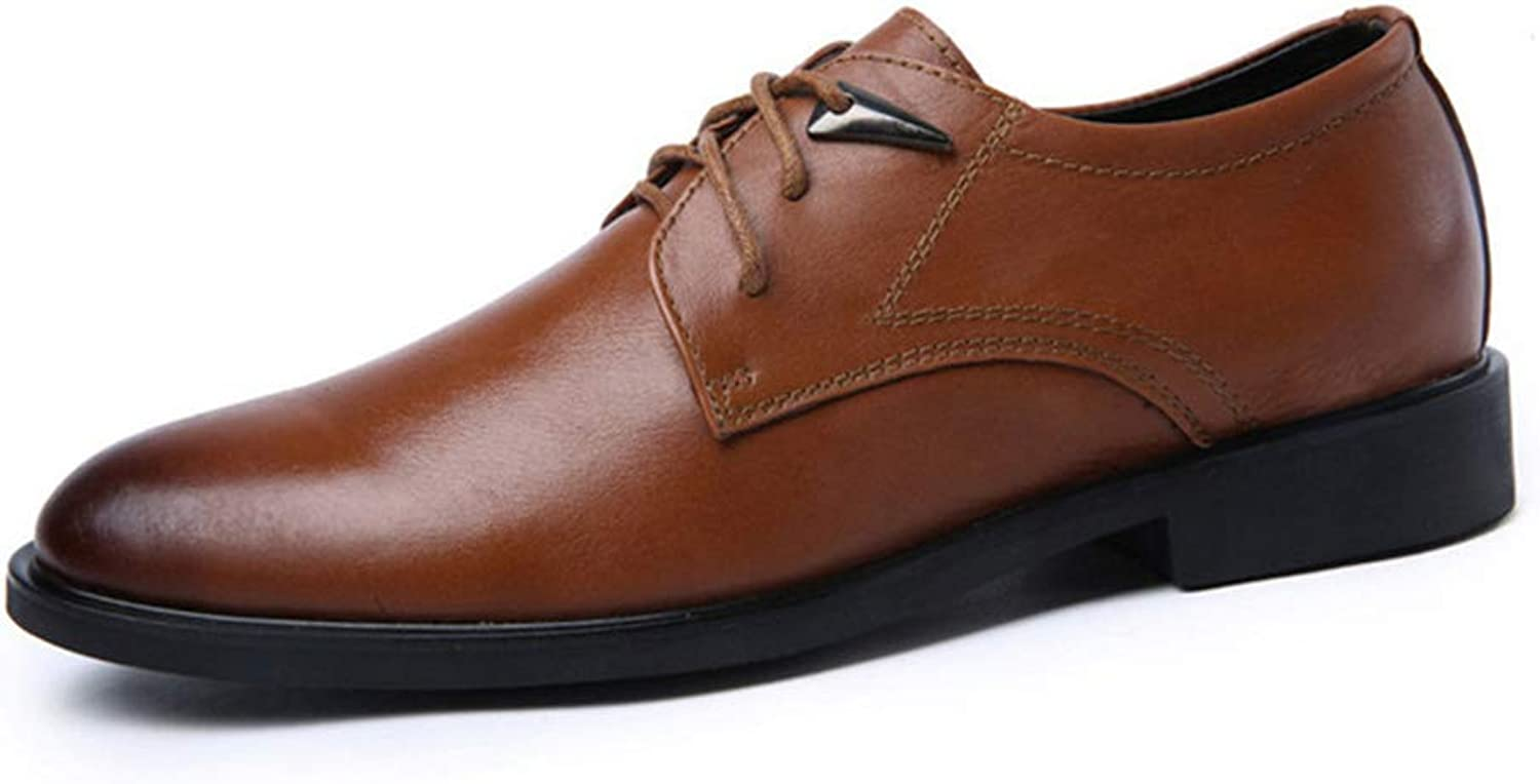 Men Dress shoes Oxfords Leather Handcrafted Office Business Wedding shoes
