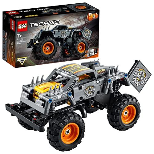 LEGO 42119 Technic Monster Jam Max-D Truck und Quad, 2-in-1 Spielzeug ab 7 Jahre mit Rückziehmotor, Geschenk zu Weihnachten oder zum Geburtstag