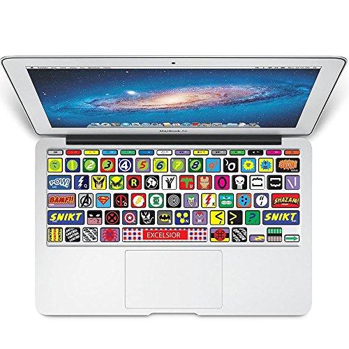 KBubble MacBook Laptop Vinyl Decal Sticker Keyboard K002 Super Hero Symbol