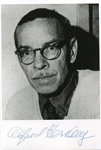 Alfred Day Hershey original Autogramm/Autograph/signiert