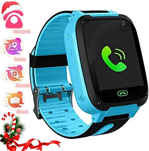 LDB Kider Smartwatch, Phone Smart watch Tracker Telefon LBS Micro Chat SOS Alarm Gegen Verlorene Taschenlampe Mathe Spiel Kids, Für kleine Jungen und Mädchen Weihnachts Geschenk